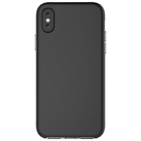 For iPhone X Case Drop Frosted Solid Color Phone Back Shell - BLACK