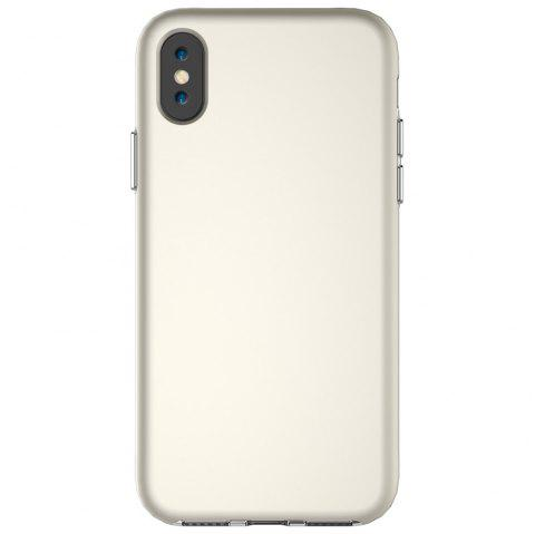 For iPhone X Case Drop Frosted Solid Color Phone Back Shell - SILVER