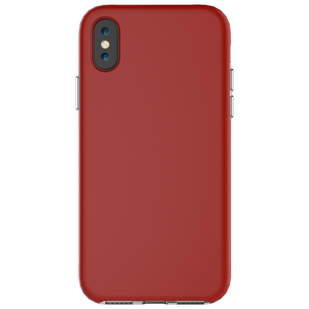For iPhone X Case Drop Frosted Solid Color Phone Back Shell - RED