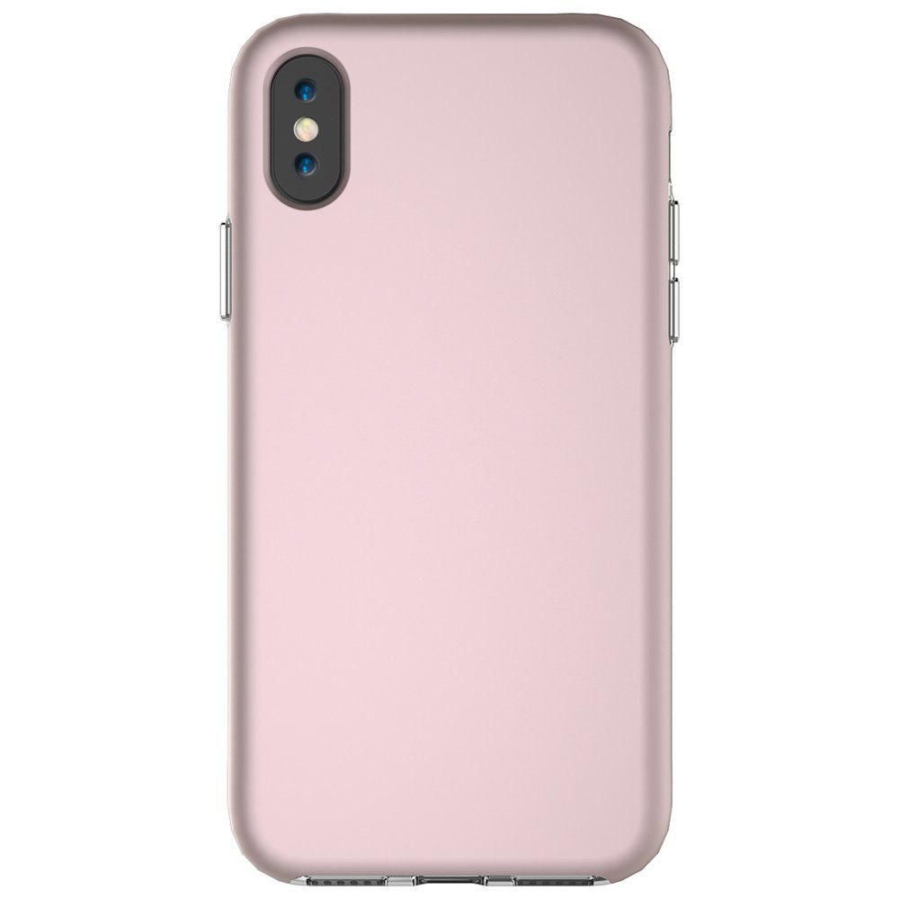 For iPhone X Case Drop Frosted Solid Color Phone Back Shell - ROSE GOLD