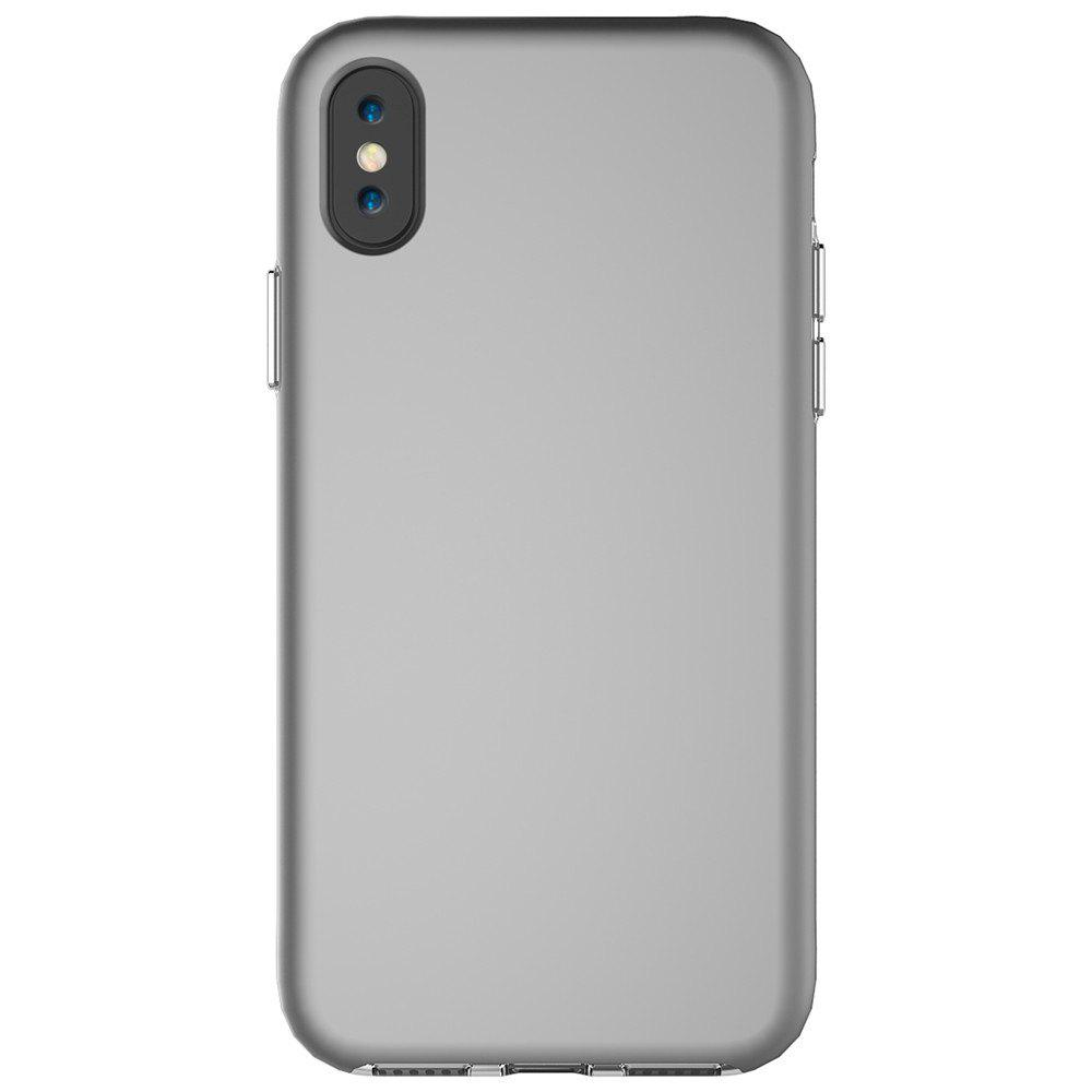 For iPhone X Case Drop Frosted Solid Color Phone Back Shell - GRAY