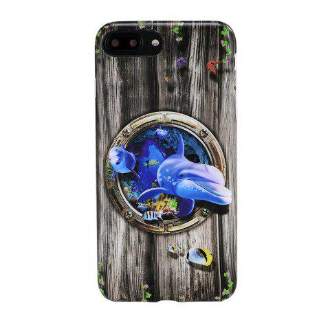 For iPhone 8 Plus / 7 Plus Case Shark Pattern  Pattern Back Cover Cartoon Soft TPU Mobile Phone Back Shell - multicolor