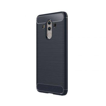 Fundas Carbon Fiber Antislip Rubber Cover for Huawei Mate10 Pro Case -  BLUE
