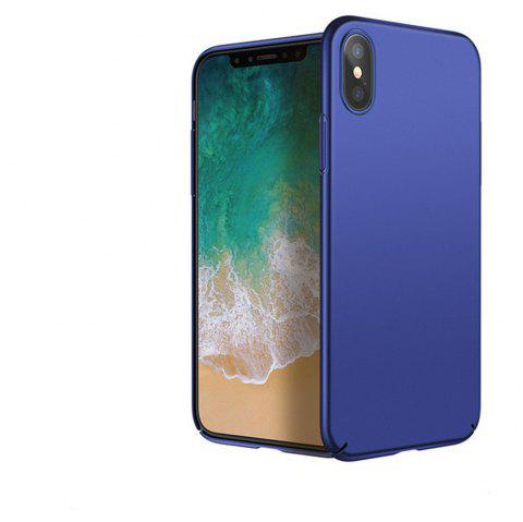 Luxury Hard PC Back Ultra Thin Plastic Shockproof Full for iPhone X Case - BLUE