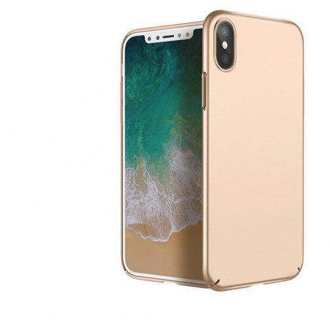 Luxury Hard PC Back Ultra Thin Plastic Shockproof Full for iPhone X Case - GOLDEN