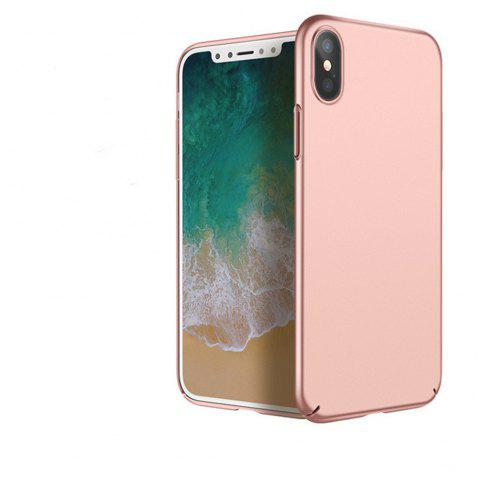 Luxury Hard PC Back Ultra Thin Plastic Shockproof Full for iPhone X Case - ROSE GOLD