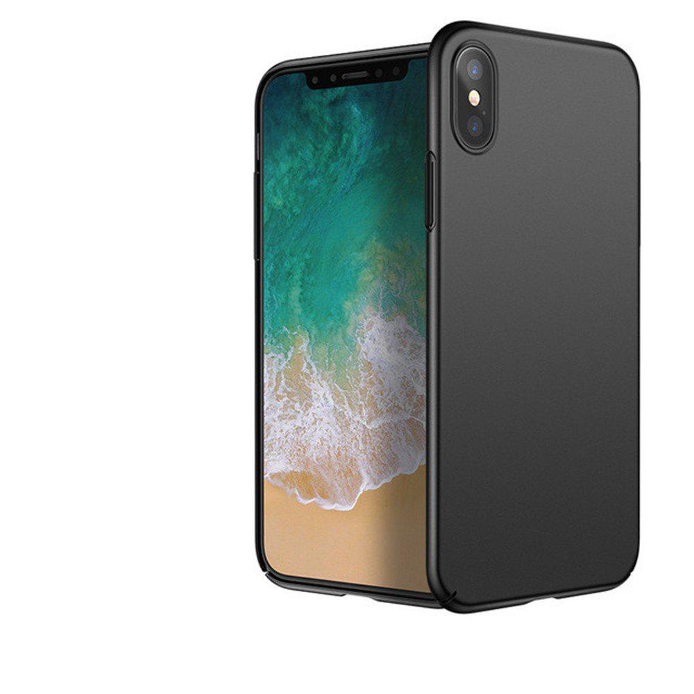 Luxury Hard PC Back Ultra Thin Plastic Shockproof Full for iPhone X Case - BLACK
