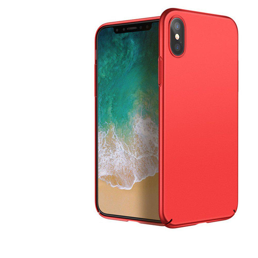 Luxury Hard PC Back Ultra Thin Plastic Shockproof Full for iPhone X Case - RED