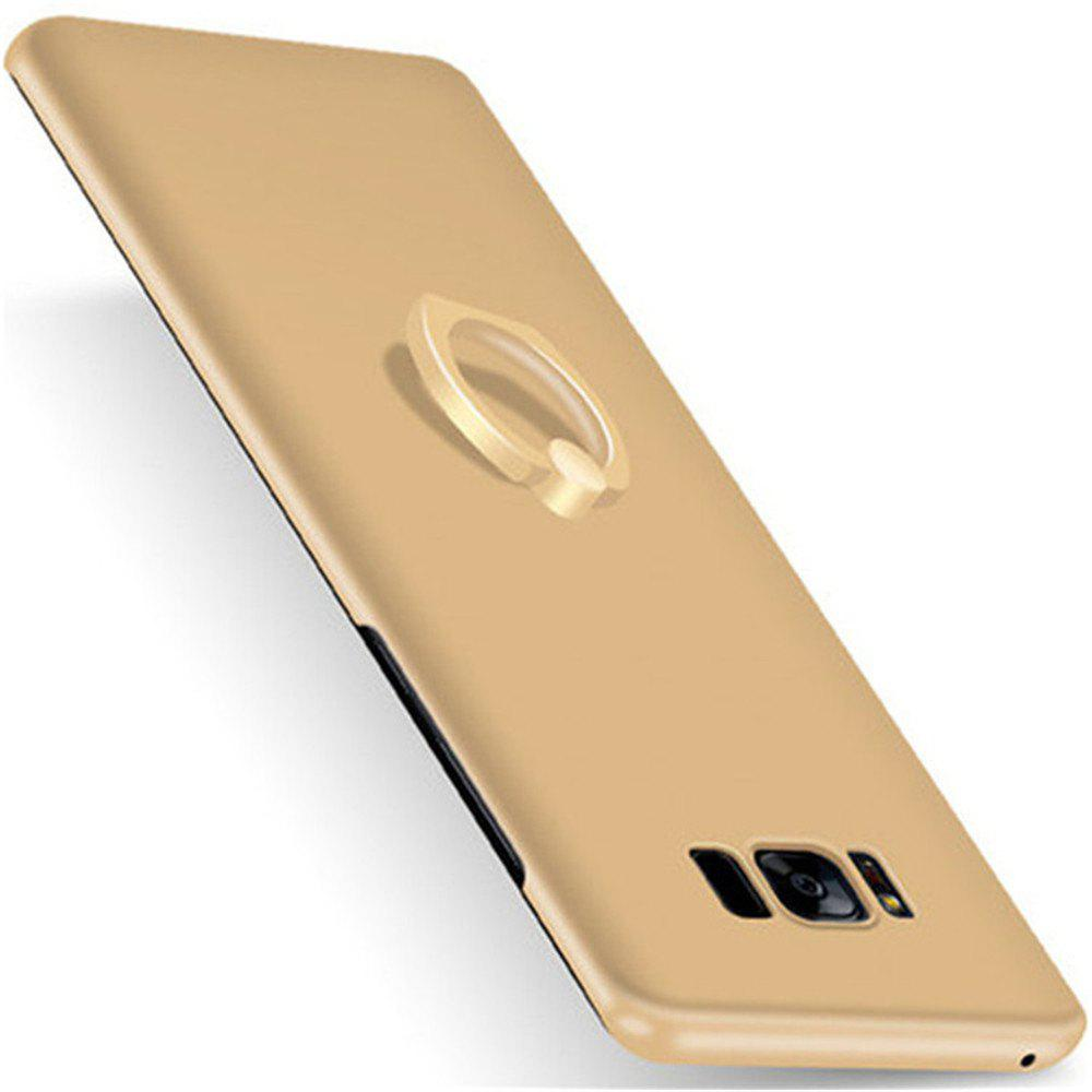Luxury Matte 360 Full Protection Hard PC Phone Cover With Finger Ring Stand Holder for Samsung S8 Plus Case - GOLDEN