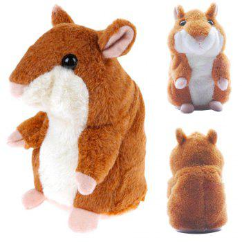 Talking Hamster Mouse Educational Toy Record Hamster Sound Recording Repeats What You Say Plush Toys