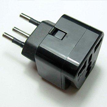 UK to Switzerland Adaptor, uk to Swiss Plug Adaptor Travel Converter(Pack of 2) - BLACK