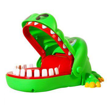 Big Mouth Crocodile Toy Gags Joke Dentist Bite Finger Game For Children Kids Funny Gift (Size: random color) - GREEN