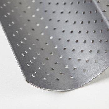 "15"" by 13"" Non-stick Perforated Baguette Pan for French Bread Pan Wave Loaf Bake Mold Silver Holiday molding supplies board subway mold tray cloche mold pan sheet baker baking toast cooking -  SLIVER"