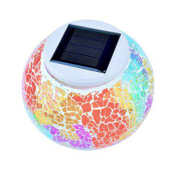 Solar Mosaic Glass Table Light - COLORFUL COLORFUL