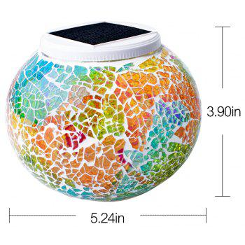 Solar Mosaic Glass Table Light -  COLORFUL