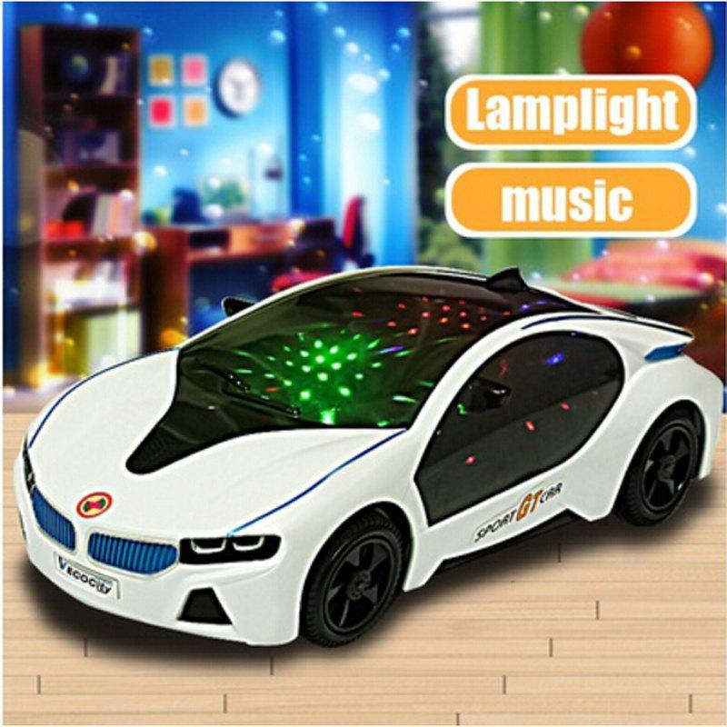 3D LED Flashing Light Car Toys Music Sound Electric Toy электрогриль every music 5118d maxhler 3d