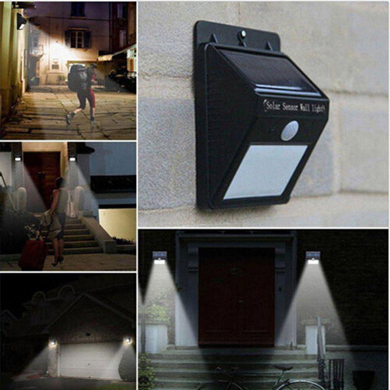 Solar Powered Waterproof 16 LED Motion Sensor Light for Porch, Garden, Yard, Patio, Pathway, Home - BALCK