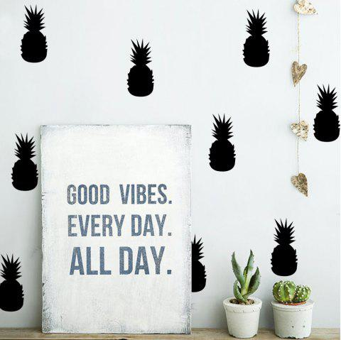 Pineapple Removable Wall Decals for Nursery Bedroom Decor - BLACK