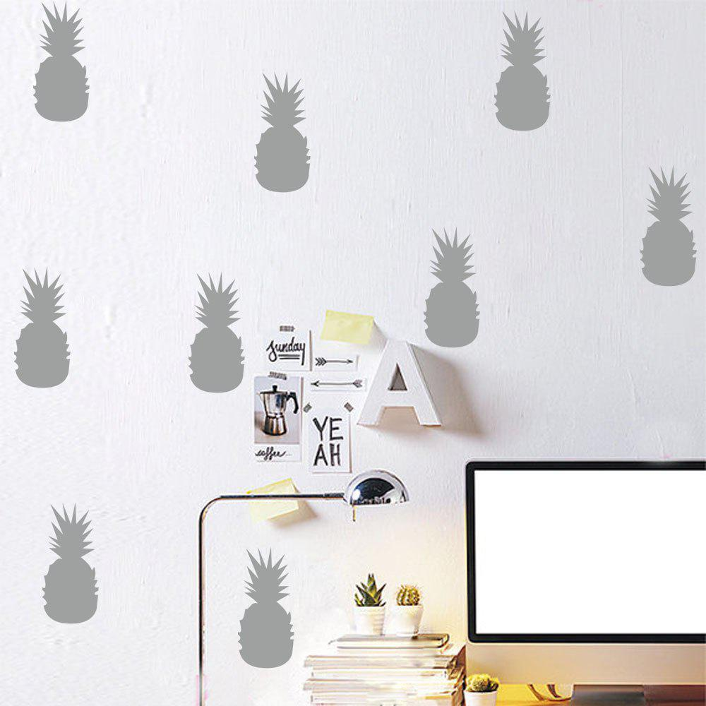 Pineapple Removable Wall Decals for Nursery Bedroom Decor - WHITE