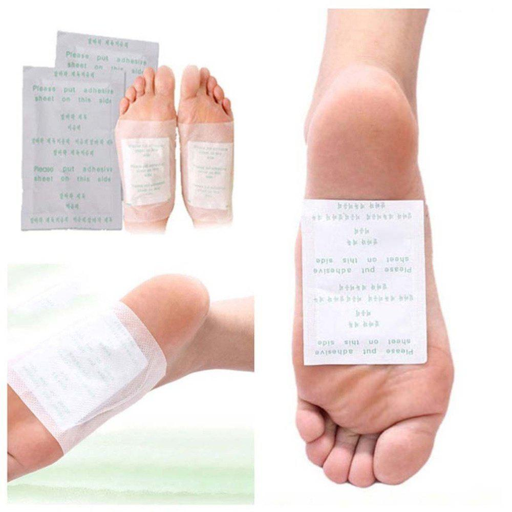 10 PCS Detox Foot Pads Organic Herbal Cleansing Patches Foot Care Pads - WHITE