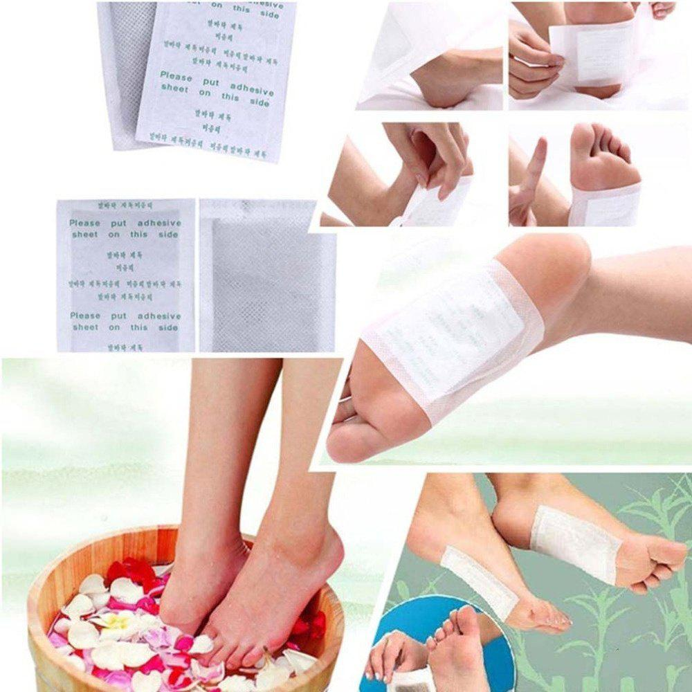 10 PCS Detox Foot Pads Organic Herbal Cleansing Patches Foot Care Pads kongdy brand 10 bags 20 pieces adhesive sheet bamboo vinegar foot patch removing toxins foot plaster foot cleansing pads