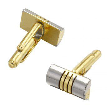 Luxury French Cufflinks for Men'S Gift Gold Plated Simple Style Cuff Links -  GOLD