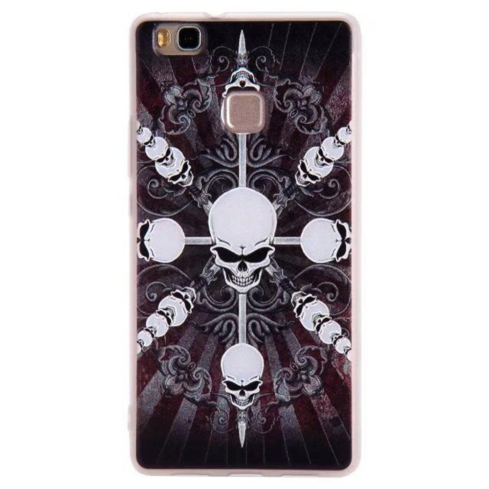 Color Pattern Soft TPU Back Phone Case Huawei G9 - BLACK