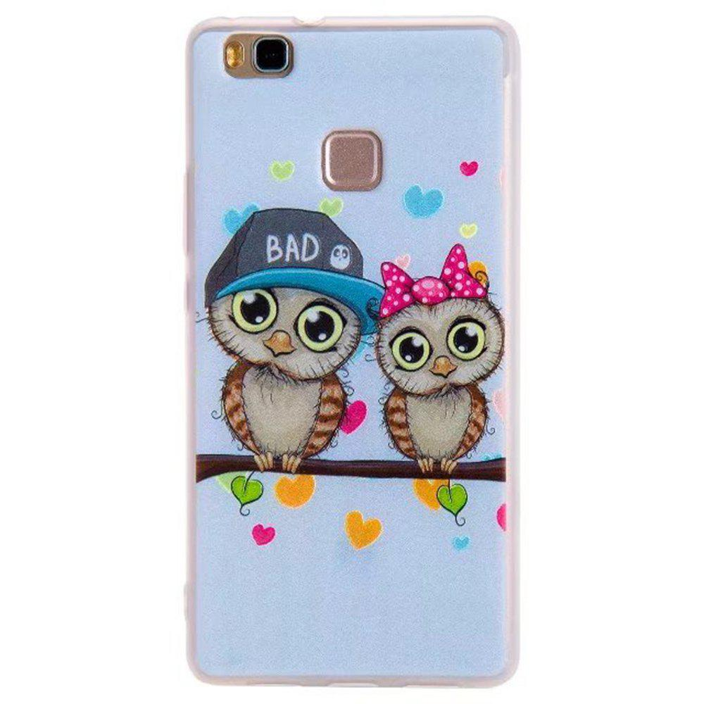 Color Pattern Soft TPU Back Phone Case Huawei G9 - LIGHT BLUE