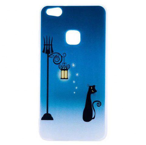 Color Pattern Soft TPU Back Phone Case for Huawei P10 Lite - BLUE
