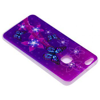 Color Pattern Soft TPU Back Phone Case for Huawei P10 Lite - PURPLE