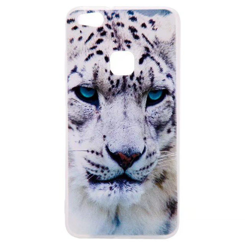 Color Pattern Soft TPU Back Phone Case for Huawei P10 Lite - WHITE