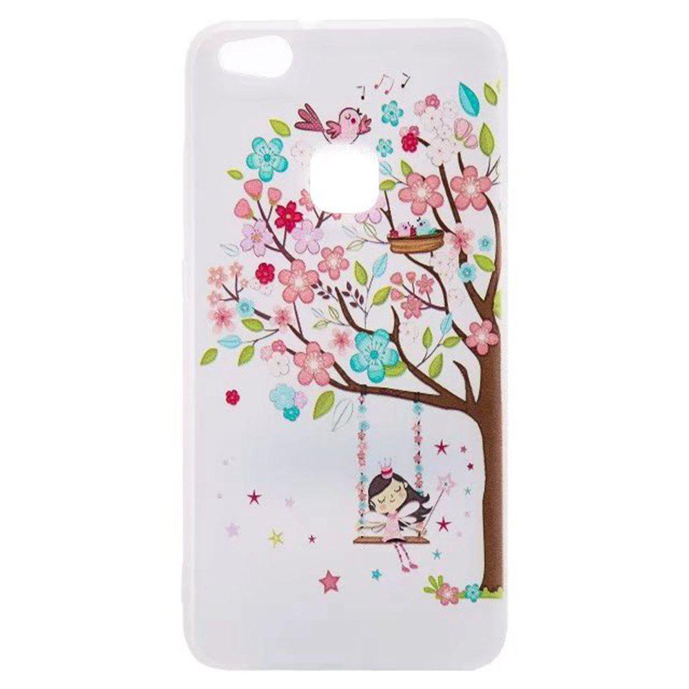 Color Pattern Soft TPU Back Phone Case for Huawei P10 Lite - BROWN