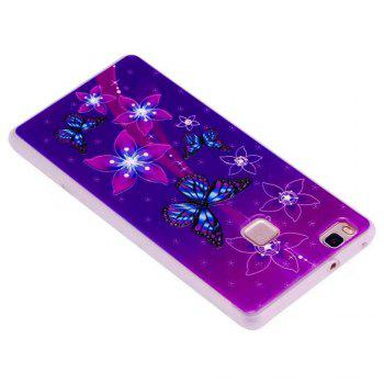 Color Pattern Soft TPU Back Phone Case for Huawei P10 - PURPLE