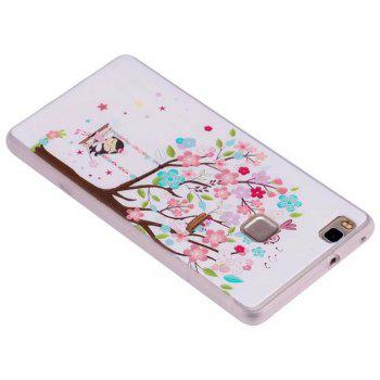 Color Pattern Soft TPU Back Phone Case for Huawei P10 - BROWN