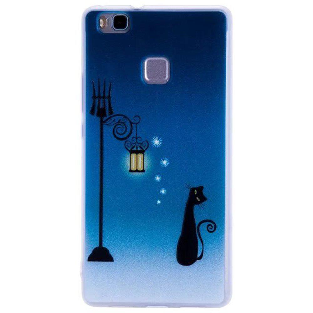 Color Pattern Soft TPU Back Phone Case for Huawei P10 - BLUE