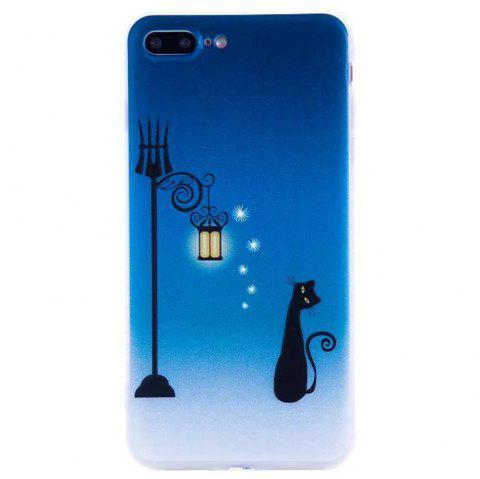 Color Pattern Soft TPU Back Phone Case for iPhone 7 Plus - BLUE
