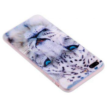 Color Pattern Soft TPU Back Phone Case for iPhone 7 Plus - WHITE