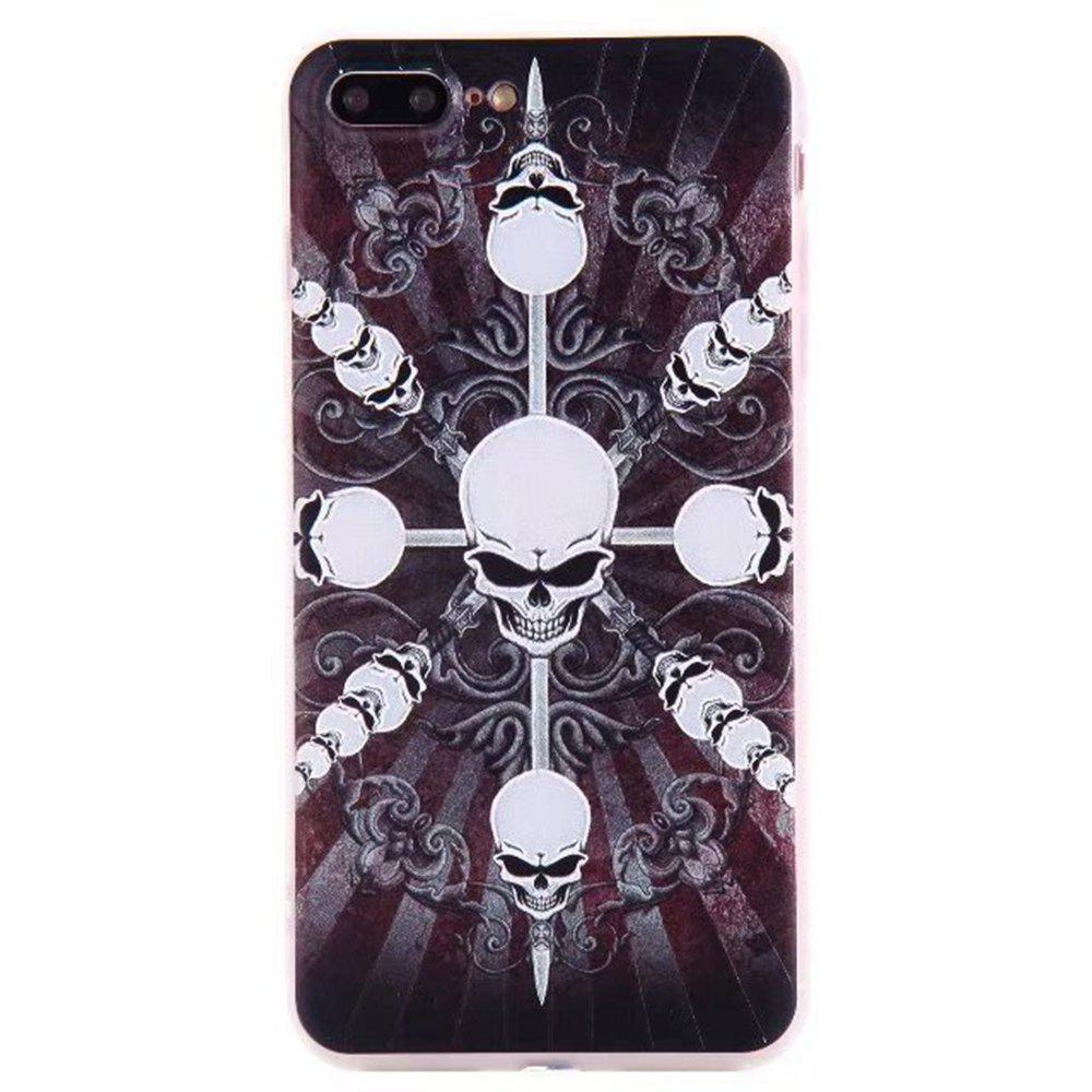 Color Pattern Soft TPU Back Phone Case for iPhone 7 Plus - BLACK