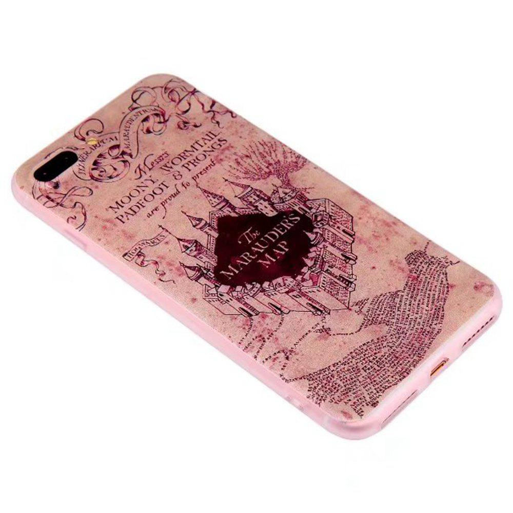 Color Pattern Soft TPU Back Phone Case for iPhone 7 Plus - SANDY BROWN
