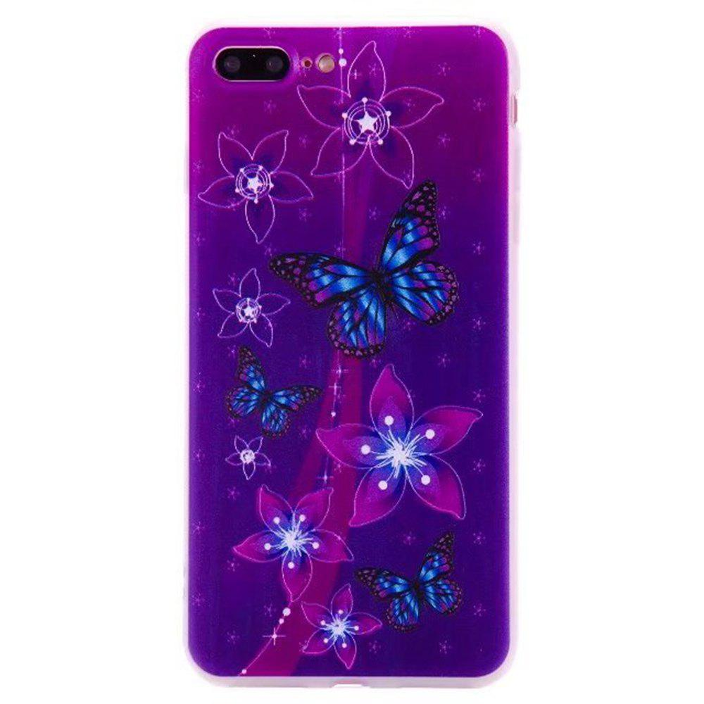 Color Pattern Soft TPU Back Phone Case for iPhone 7 Plus - PURPLE