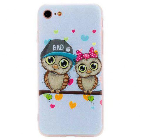 Color Pattern Soft TPU Back Phone Case for iPhone 8 - LIGHT BULE