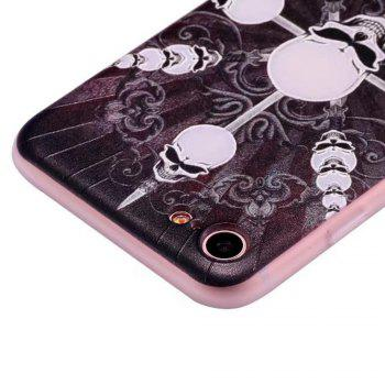 Color Pattern Soft TPU Back Phone Case for iPhone 8 - BLACK