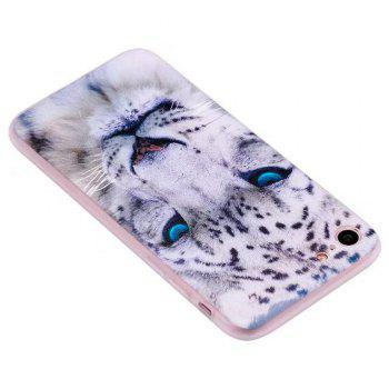 Color Pattern Soft TPU Back Phone Case for iPhone 8 - WHITE