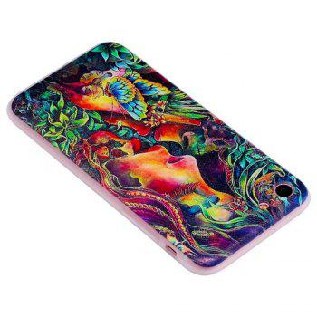 Color Pattern Soft TPU Back Phone Case for iPhone 8 - GREEN