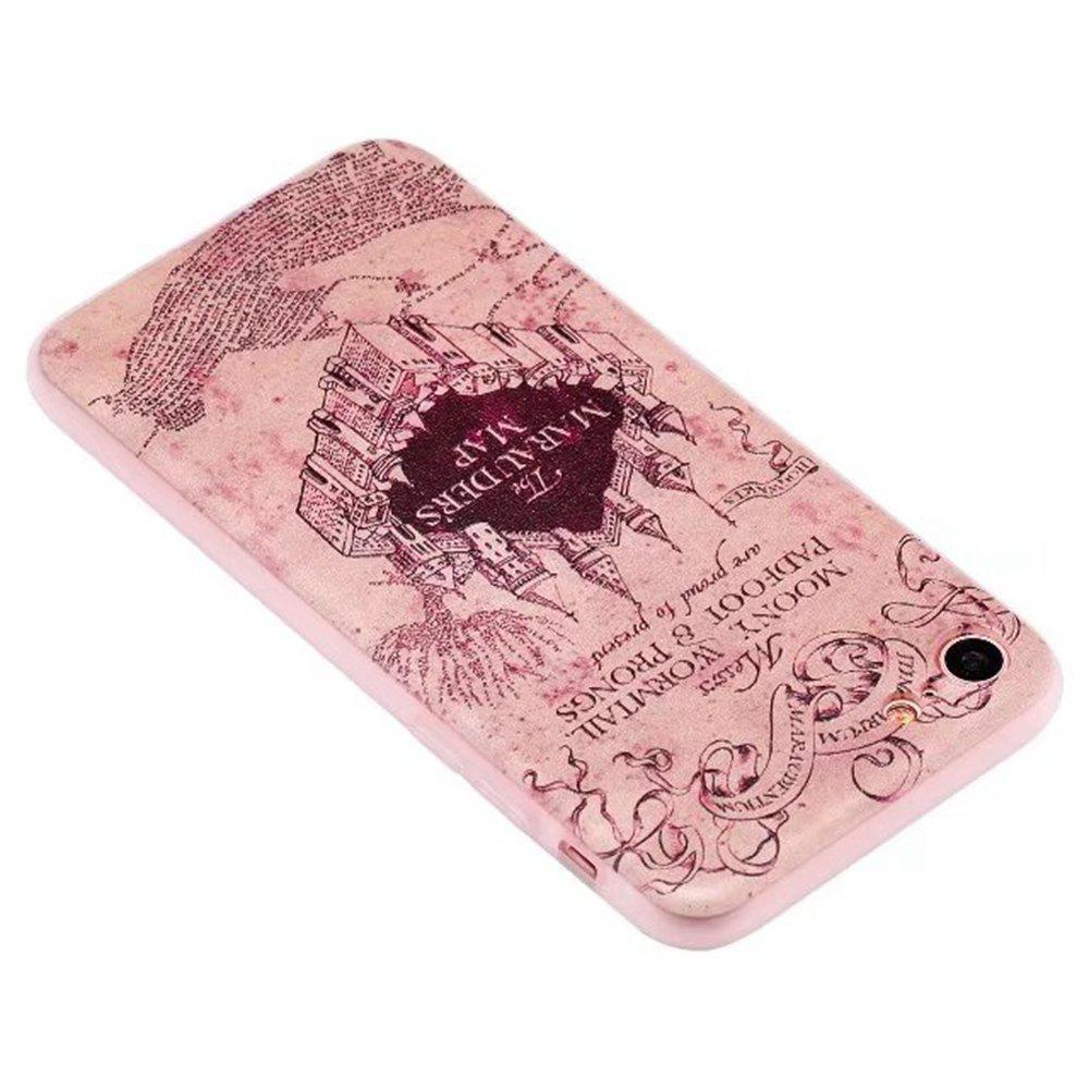 Color Pattern Soft TPU Back Phone Case for iPhone 8 - SANDY BROWN