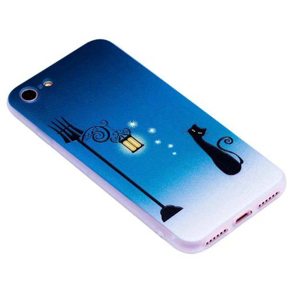 Color Pattern Soft TPU Back Phone Case for iPhone 8 - BLUE