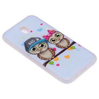 Color Pattern Soft TPU Back Phone Case for Samsung Galaxy J7 European Version - LIGHT BLUE