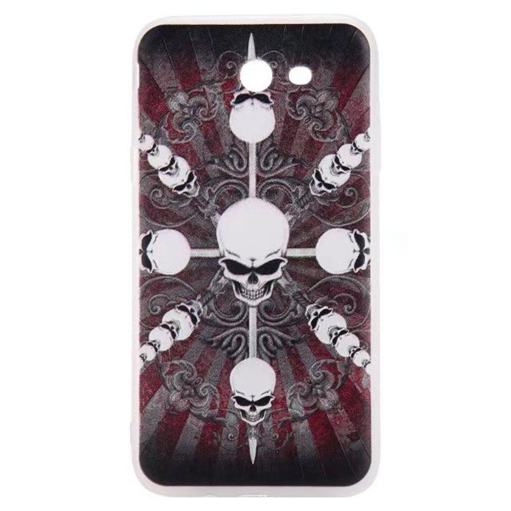 Color Pattern Soft TPU Back Phone Case for Samsung Galaxy J7 American - BLACK