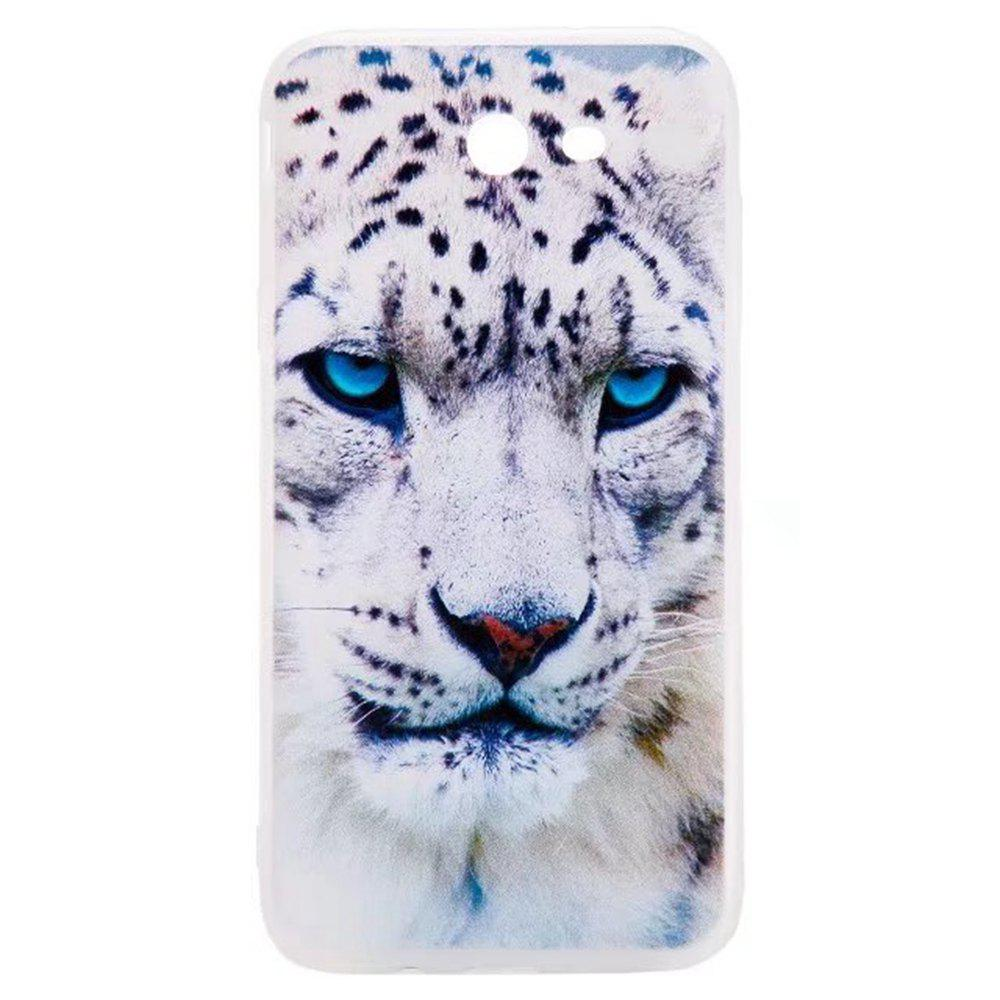 Color Pattern Soft TPU Back Phone Case for Samsung Galaxy J7 American - WHITE