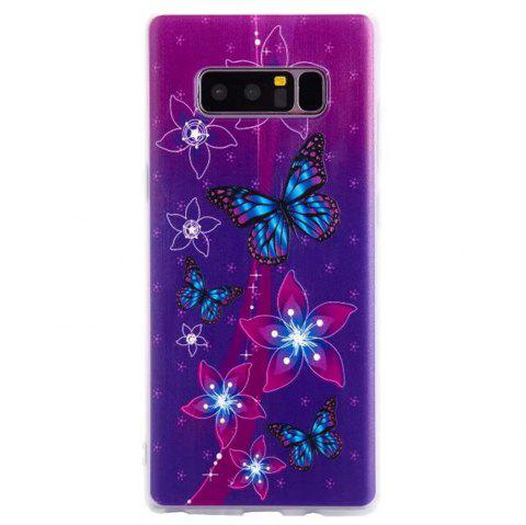 Color Pattern Soft TPU Back Phone Case for Samsung Galaxy Note 8 - PURPLE